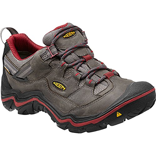 Keen Women's Durand Low WP Hiking Shoe, Magnet/Red Dahlia...