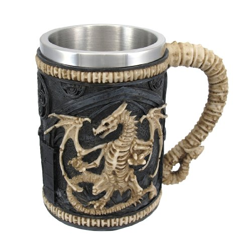 Dragon Skeleton Tankard 16 oz. Mug by Things2Die4