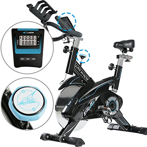 Indoor Cycling Bike Trainer Belt Drive and Sturdy (White)