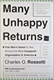 Many Unhappy Returns, Charles O. Rossotti, 1591394414