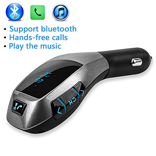 NUTK Car Kit MP3 Player Wireless Bluetooth FM Transmitter Radio Adapter Car Charger with USB SD Card Reader and
