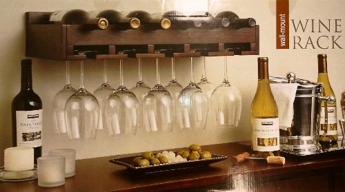 Amazon.com: Wall-Mount Wine Rack Holds 6 Wine Bottles: Home & Kitchen