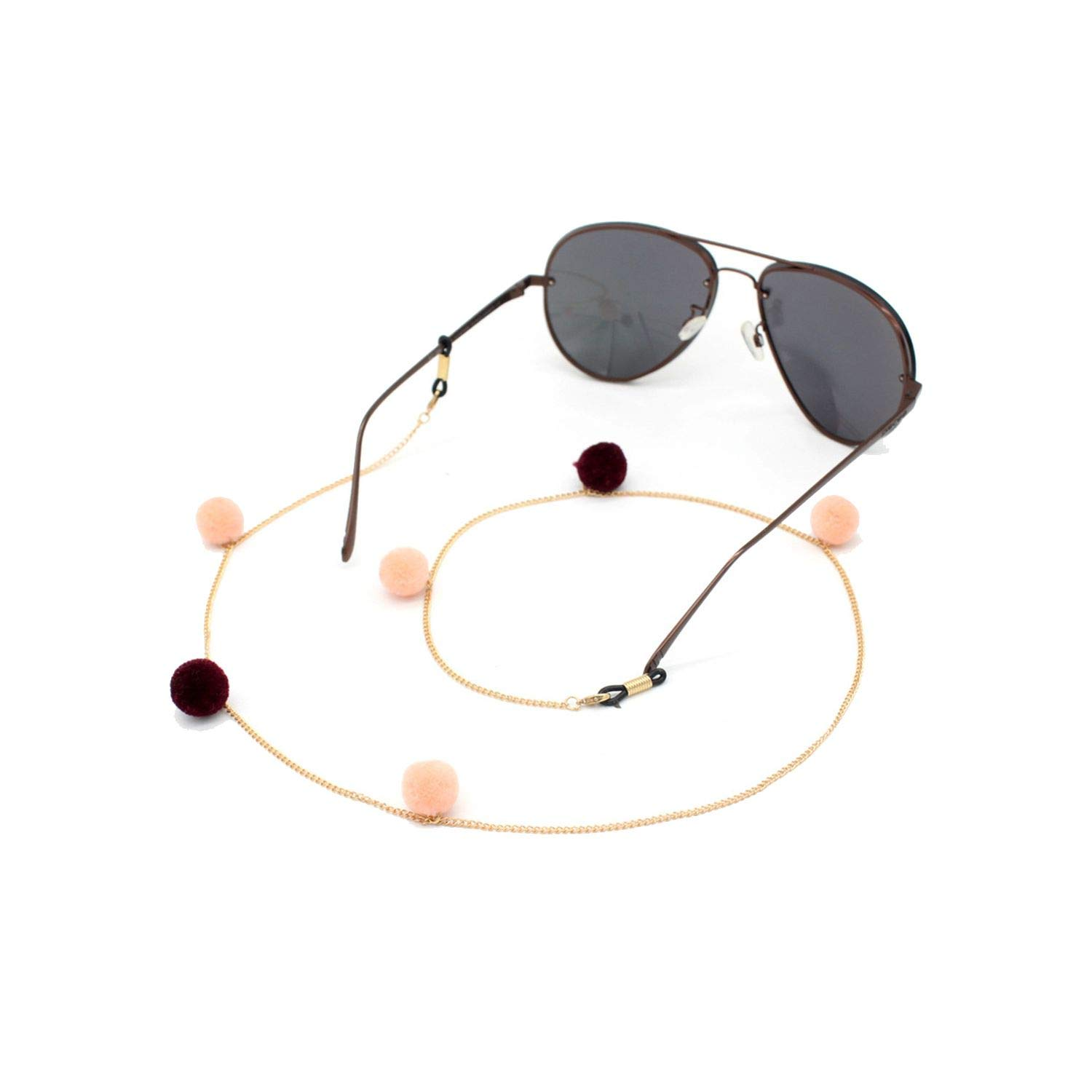 Womens Tassel Eyeglass Eyewears Pomball Sunglasses Reading Glasses Chain Cord Holder Neck Strap Rope by ONLY-FOR-ME-1