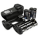 DSTE Pro MB-D14 Vertical Battery Grip + 2x EN-EL15 for Nikon D610 D600 SLR Digital Camera