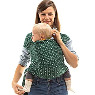 Boba Wrap Baby Carrier, Serenity Green Mudcloth - Original Stretchy Infant Sling, Perfect for Newborn Babies and Children up to 35 lbs