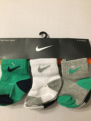 Nike Infant Socks (Nike Baby/Toddler Boy's, 6 Pair Pack Socks (6-12 Months))