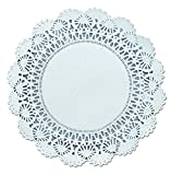 Hoffmaster 500236 Cambridge Lace Doilies, Round, 8'', White (Case of 1000)