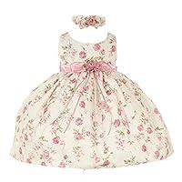 Cinderella Couture Baby Pink Pink Jacquard Vestido para ocasiones especiales 18M