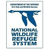 "National Wildlife Refuge System car bumper sticker 5"" x 4"""