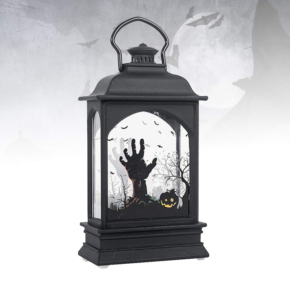 black halloween hanging lantern