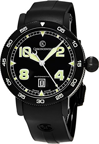Chronoswiss-Time-Master-Mens-Black-PVD-Case-Date-Black-Face-Black-Rubber-Strap-Swiss-Automatic-Watch-CH-8645
