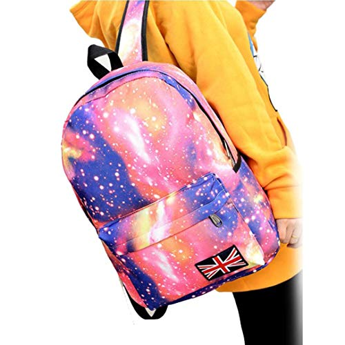 Unisex Pink Travel Leisure Bags Pattern Slim VPASS Rucksack High Casual Bag Backpack Canvas School College Galaxy XqwZIy6T