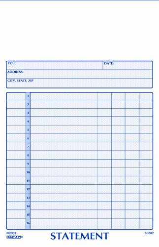 (Rediform Statement Book, Carbonless, 2 Part, 5.5 x 8.5 Inches, 50 Forms (8L882))