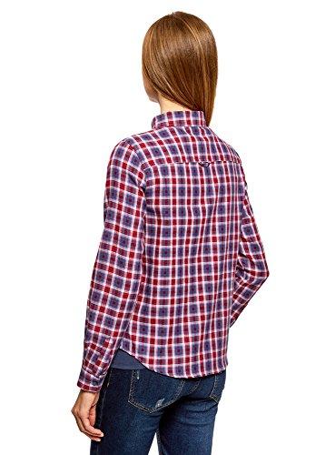oodji Femme Carreaux Ultra avec Rouge Chemise 7445c Poches wCgTwzq