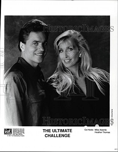 1991 Press Photo Mike Adamle And Heather Thomas In The Ultimate Challenge