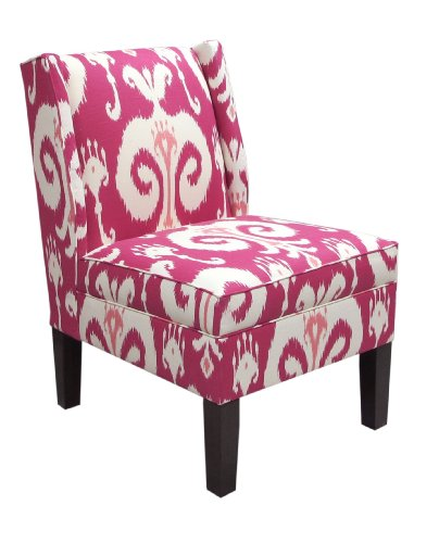 Skyline Furniture Wingback Chair in Himalaya Raspberry