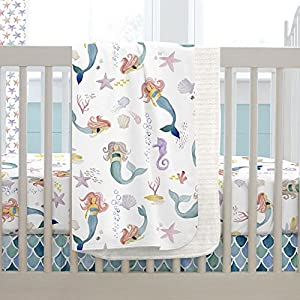 51OuNY7kbWL._SS300_ Mermaid Crib Bedding and Mermaid Nursery Bedding Sets