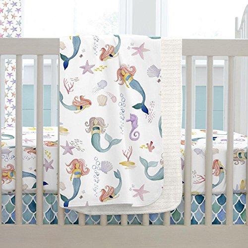 Carousel Designs Watercolor Mermaids Crib Blanket by Carousel Designs