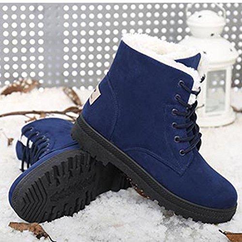 la los calidad mujer Mujer de de invierno Azul de Botas nieve manera la abotona cargadores de Ouneed Martin del alta cortos ®La la zwZvxZq0d