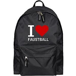 Rucksack Classic I Love Faustball schwarz