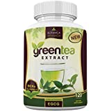 Green Tea Extract EGCG Polyphenols Supplement Stomach Fat Burner Energy Pills Antioxidant Detox Weight Loss Belly Complex Diet Vitamin 500mg Capsules Thermogenic Metabolism Booster Flush For Women Men