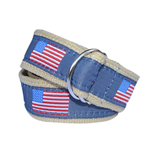 Bean Belts Boy's American Flag Belt (Large (6-8)) by Bean Belts (Image #1)