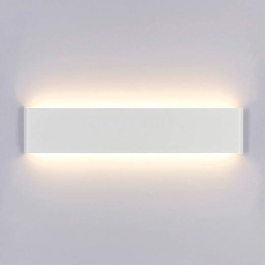 Aplique Pared Interior LED Blanco Cálido Lámpara de pared Moderna 14W Perfecto para Salon Dormitorio Sala Pasillo Escalera Acrílico Aluminio: Amazon.es: Iluminación