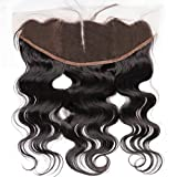 Ear to Ear Lace Frontal Closure 13x4 Middle Part Body Wave Brazilian Human Hair Full Lace Frontal With Baby Hair Natural Color No Bleached Knots (14 inch)