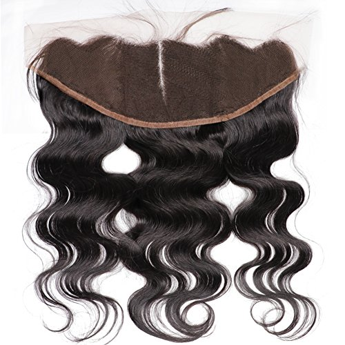 Cheap Ear to Ear Lace Frontal Closure 13×4 Middle Part Body Wave Brazilian Human Hair Full Lace Frontal With Baby Hair Natural Color No Bleached Knots (14 inch)