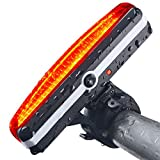 Sportszu Bicycle Tail Light with USB Rechargeable, Red and 6 Modes In One Rear LED Safety Strobe Flashing Light Compatible With Bikes, Helmets, Bags - including 2 Colorful Rainbow Wheels Lights