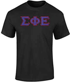 sigma phi epsilon twill letter tee by fashion greek