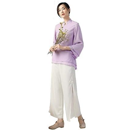 KSUA Traje de Yoga de Gasa para Mujer, Estilo Oriental ...