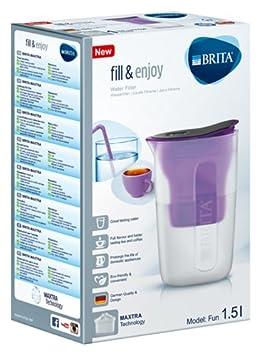 1 Cartouche Filtrante Maxtra incluse BRITA Rose 1.5L Carafe Filtrante Fun