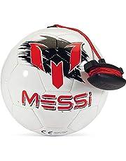 Messi futbol antrenman ekipmanı, futbol kontrol kordonlu, pratik ve drills için ayarlanabilir