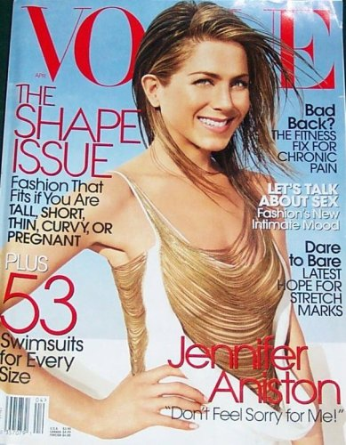 Vogue Magazine April 2006 Jennifer Aniston (Single Back Issue) pdf epub