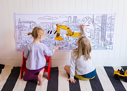 Giant Construction Poster for HOURS of coloring 24
