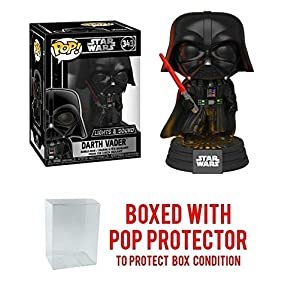 Darth Vader Electronic with Lights and Sound #343 Pop Movies Vinyl Figure (Includes Compatible Ecotek Pop Box Protector…