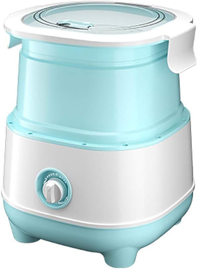 EVFIT Lavadora de Ropa Interior Lavadora Plegable Pequeña Portátil Mini Semi-automático Lavado de Ropa Interior y Medias Lavandería (Color : Green, Size : 34x33x40cm)
