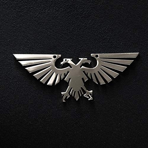 Stainless Steel Pendants | Imperial Aquila Bird DIY Pendants | for Women and Men Necklaces (Finish Silver Pendants Imperial)