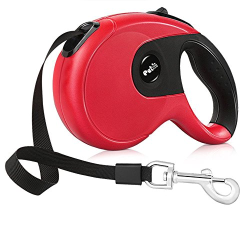 Heavy Duty Automatic Retractable Dog Leash With Anti-Slip Handle,Great for Small, Medium & Large Dogs or Other Pet up to 110lbs(16 ft Strong Nylon ()