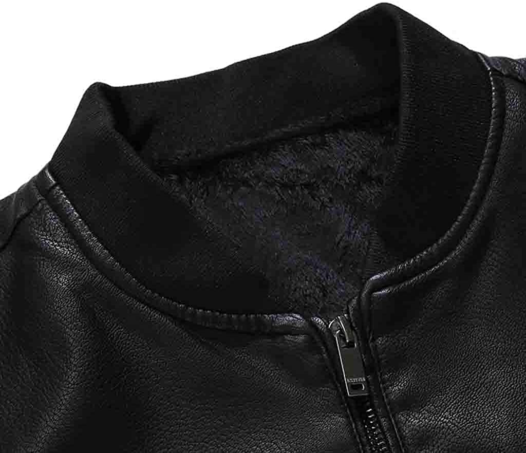 Vintage Slim Biker Jackets Outdoor Sport Outerwear Coats Yomiafy Mens Leather Jackets
