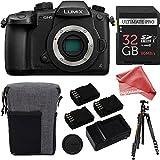 Panasonic LUMIX GH5 20.3MP 4K Mirrorless Digital Camera Body + 32GB Triple Battery Deluxe DigitalAndMore Bundle