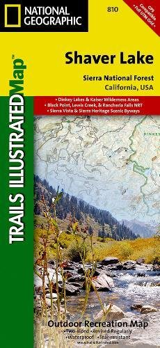 Shaver Lake / Sierra National Forest, California (Trails Illustrated Map) (National Geographic Trails Illustrated Map)