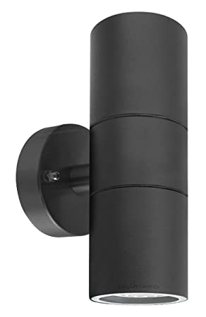 long life lamp company modern black double up down outdoor stainless