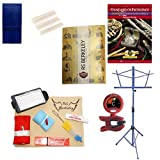 Tenor Saxophone Players Mega Pack - Essential Accessory Pack for the Saxophone: Includes: Saxophone Care & Cleaning Kit, Saxophone Reed Pack w/Reed Holder, Music Stand, Band Folder, Standard of Excellence Book 1 for Tenor Sax, & Tuner & Metronome