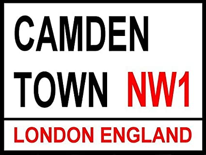 Cartel de la calle de Londres, Camden Town, 8 x 12 pulgadas ...