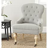 Safavieh Mercer Collection Falcon Arm Chair, Granite