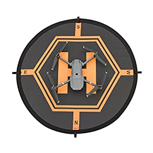 XBERSTAR Double Side Day&Night Foldable Apron Landing Pad for DJI Mavic Pro Inspire 1 Phantom4 3 Quadcopter RC Drone Portable Fast-fold launch helipad by Shenzhen Zhongliwei Science and Technology Co., Ltd