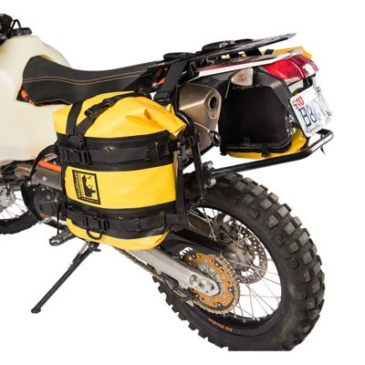 Wolfman Tusk Pannier Racks with Expedition Dry Saddle Bags