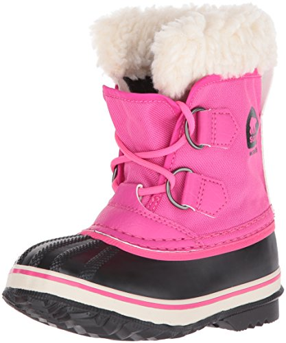 Sorel Kids' Childrens Yoot Pac Nylon-K Snow Boot, Haute Pink, 13 M US Little Kid by SOREL